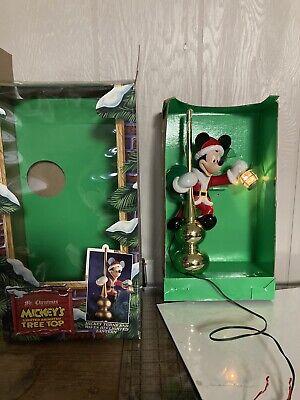 Vintage Mr. Christmas Mickey Mouse Animated Lighted Tree TopperDisney