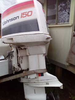Johnson 150hp outboard, taken off due to upgrade