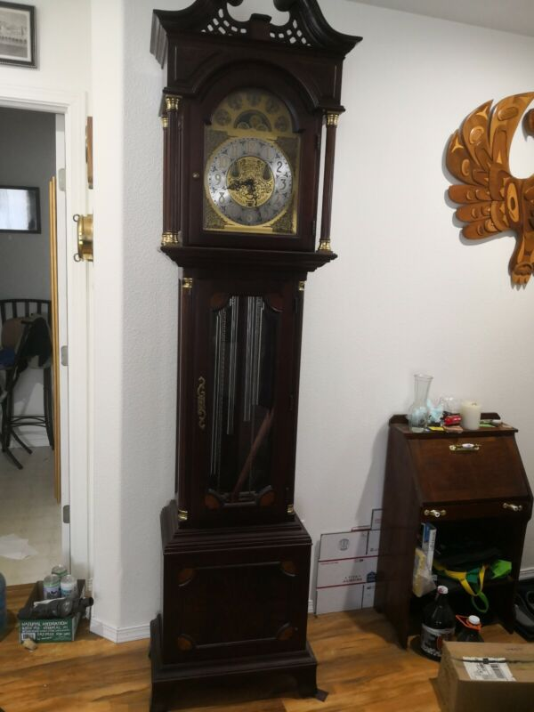 Seth Thomas Limited Edition Moonphase Grandfather Clock With Month/Day/Date