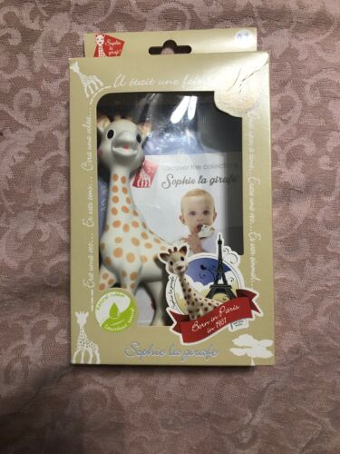 New VULLI Sophie The Giraffe Baby Teether Natural Rubber Squeaker Toy  - $24.00