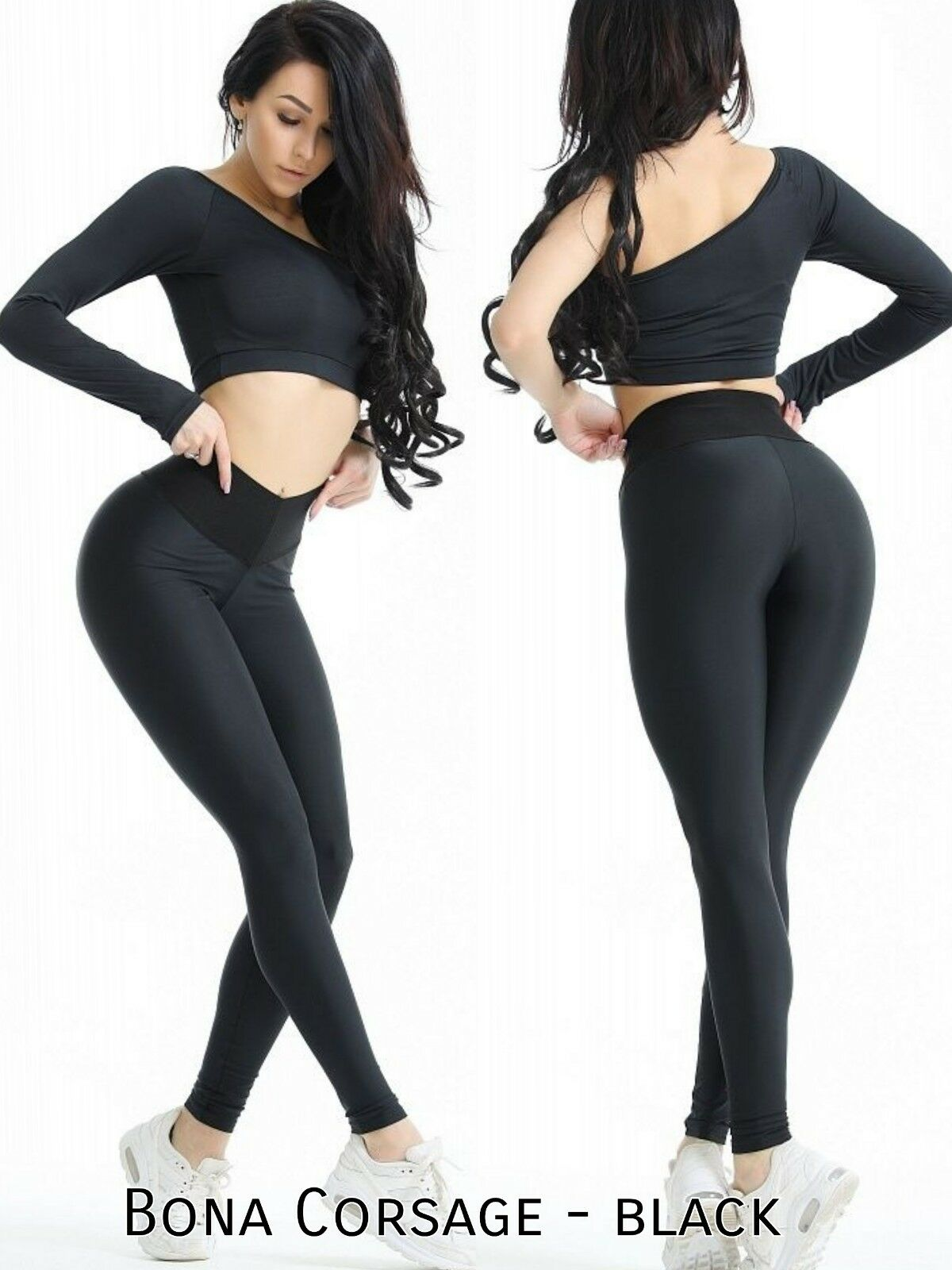 Bona Fide Fitness-Jogging-Leggings Yoga-Pants Tanz-Tights Hohe Taille stretch