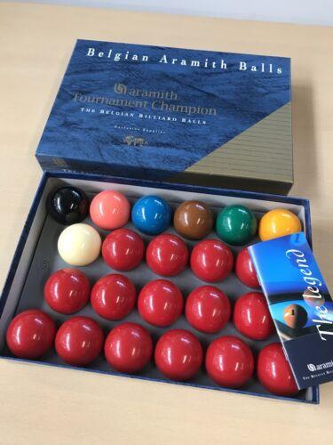 Aramith tournament champion snooker balls. Made in Belgium. Excellent condition