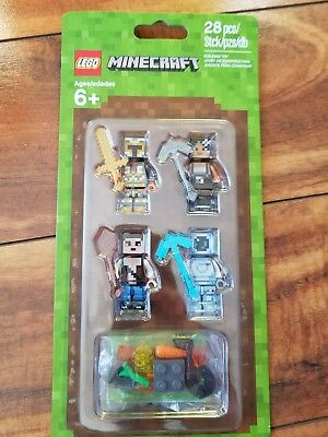 Brand New Lego Minecraft Skin Pack 853610 Minifigures   Free Shipping