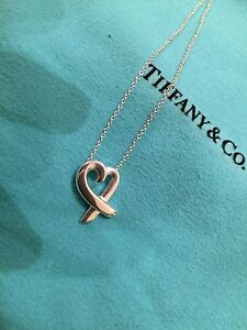 AUTHENTIC Tiffany & Co. Paloma Picasso Loving Heart Pendant SS