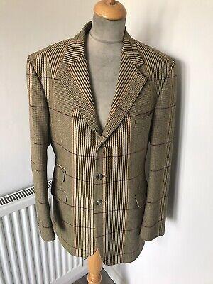 Vintage Stylish John G Hardy Check tweed jacket chest 40