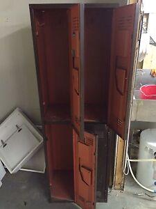 Set of old school lockers