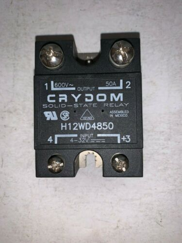 CRYDOM 600V, 50A SOLID-STATE RELAY H12WD4850 /E2