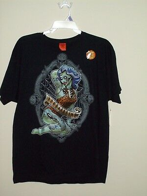 Halloween Pin Up (New Halloween Zombie Pin up (Brains) Black T Shirt Mens)