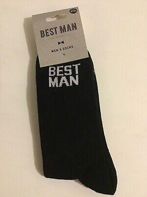 Wedding Day Novelty Men's Socks For Best Man-Stag/Gift Shoe Size