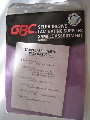 Gbc Self Adhesive Laminating Supplies - Sample Assortment Pack