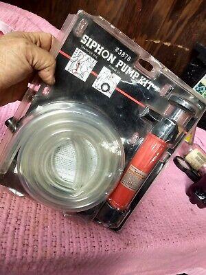 Gasoline Transfer Pump Manual Hand Use Siphon Kit Transfer Gas Change Oil