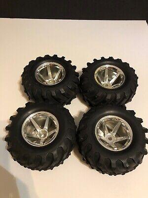 4 pcs RC Truck Tires & Rims HPI Monster Truck A14