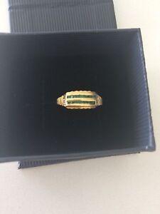 Emerald diamond 9ct gold Mosman Park Cottesloe Area Preview