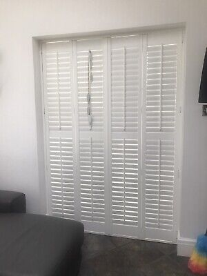 Wooden Plantation shutters white For Patio Doors.., used for sale  Chester