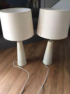 2 white lamps Preston Darebin Area Preview