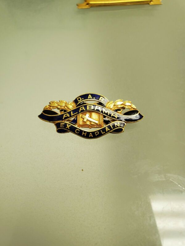Daughters of the american revolution DAR Alabama State EX Chaplain 14k Gold