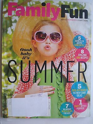 FamilyFun Magazine June/July 2016, Father's Day Ideas, Beach Reads for Kids, BBQ