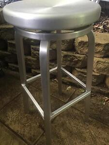 MATT BLAC BAR STOOLS -SILVER McMahons Point North Sydney Area Preview