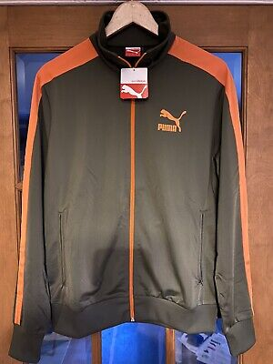 BNWT PUMA Heroes T7 Retro Track Jacket - Leaf Green/Orange - Medium