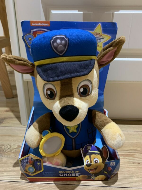 PAW+Patrol+Snuggle+Up+Pups+31cm+Chase+Soft+Toy+-+New+but+Faulty+Torch