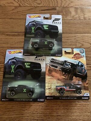 Hot Wheels Premium Forza Motorsport/ Desert Rally 2017 Ford F150 Raptor Lot