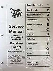 jcb service manual ebay rh ebay com jcb mini excavator service manual jcb excavator maintenance manual