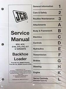 jcb manual ebay rh ebay com JCB Parts Breakdown JCB Parts Online