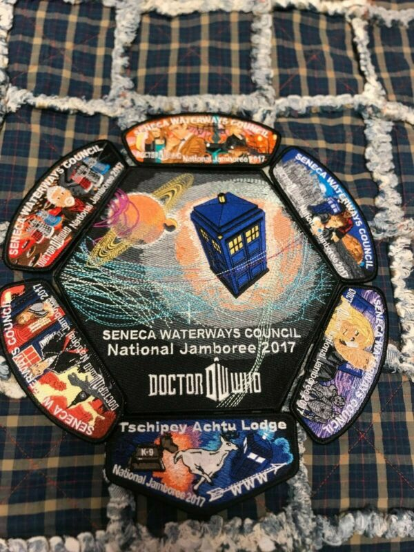 2017 National Jamboree Doctor Who Patch Set BSA