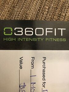 360 Fit 1 month unlimited membership