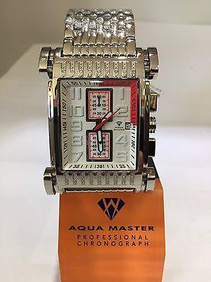 Men Aqua Master Jojo Jojino Joe Rodeo Stainl Metal Band 41Mm Diamond Watch W 330