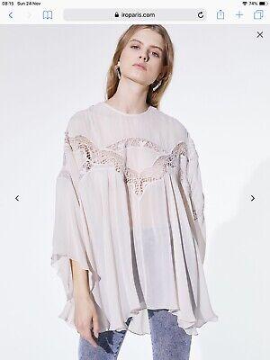 IRO cream / ecru oversized blouse top euro 36 UK8 new £353