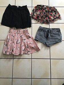 Skirts, shorts, jeans