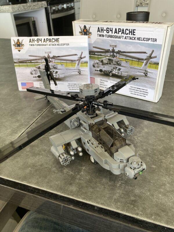 Armorbrick AH-64 Apache Twin-Turboshaft Attack Helictoper Custom Lego Kit