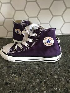Size 8T converse high tops