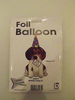 NEW HAPPY BIRTHDAY PUPPY DOG  FOIL BALLOON 41in 104 cm XL