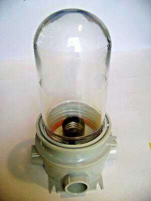 Energyficient Q-lume Incandescent Utility Jelly Jar Wet Location Light Fixture