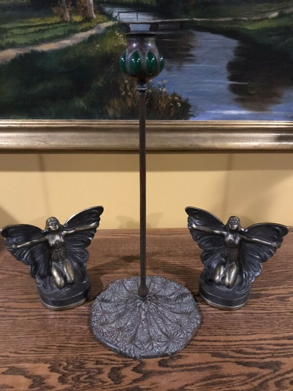 No Reserve Tiffany Studios Style Candle Stick Handel Bradley Hubbard Lamp Genre