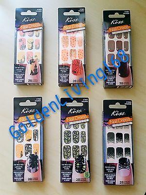2 Packs Kiss Nail Dress Nail Art/Stickers -Halloween Limited Edition Mix n Match (Kiss Nail Art Stickers Halloween)