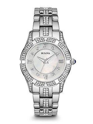 Bulova Women's 96L116 Crystal Collection Quartz Swarovski Accents 30mm Watch