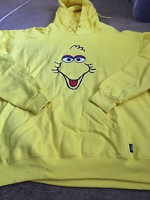 Sesame Street Big Bird XXL Adult Hoodie Sweat Shirt PBS 2XL Sea World Orlando
