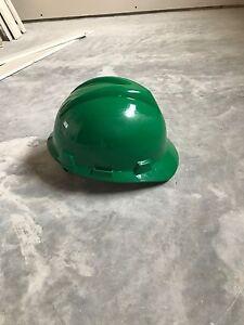 Green msa hard hat