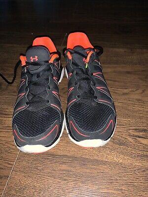 Under Armour Micro G Black & Neon Orange Mens Shoes Size 9.5