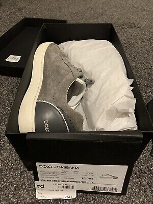 Dolce & Gabbana London Suede T Bar Sneakers Trainers Boxed RRP £325 UK 7 EU 41