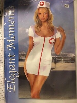 Sexy!  Naughty Nurse Sleeve Outfit Costume Nurses Hat 9165 1x/2x