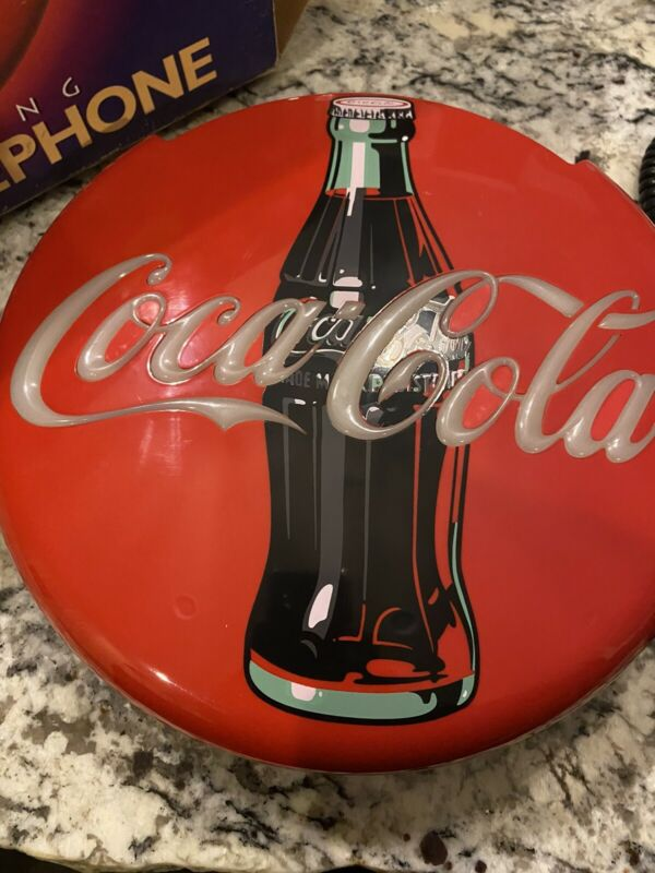 1995 Coca-Cola Blinking Light Disc Telephone