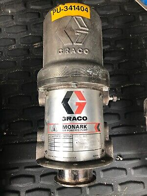 Graco 965-520 965520 Monark 51 Pneumatic 2-ball Piston Pump Carbon Steel Used