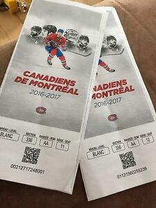 Billet / ticket Canadiens Montréal