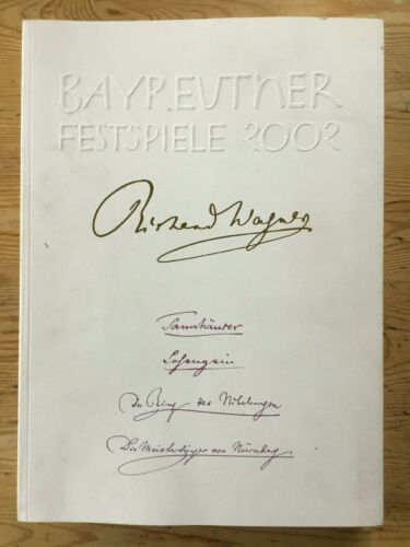 Wagner Bayreuth Festival Programme 2002