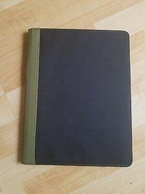 Professional Padfolio - Resume Portfolio Notebook 8.5x11 Legal Black Army Green