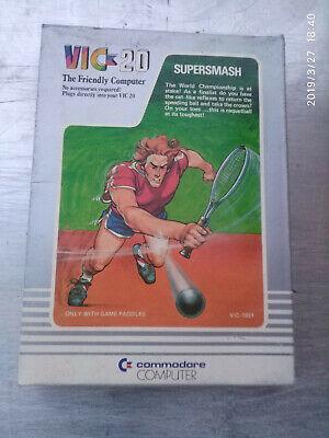 """gioco per commodore64/Vic20 """"supersmash"""" nuovo in confez. originale"""